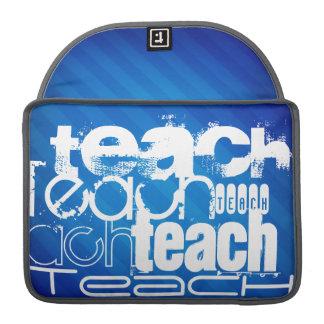 Teach; Royal Blue Stripes Sleeve For MacBooks
