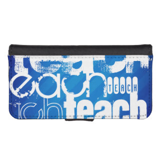 Teach; Royal Blue Stripes Phone Wallet Case