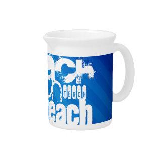 Teach; Royal Blue Stripes Pitcher