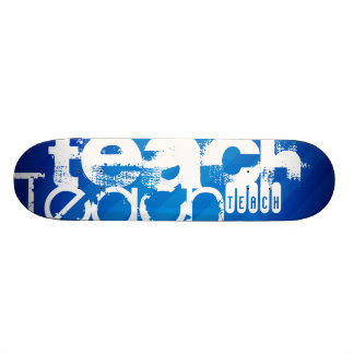 Teach; Royal Blue Stripes Custom Skateboard