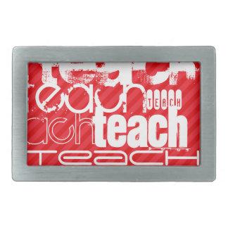 Teach; Scarlet Red Stripes Belt Buckle
