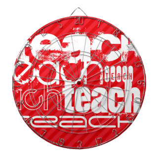 Teach; Scarlet Red Stripes Dartboard With Darts