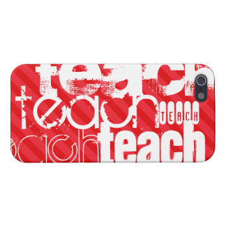 Teach; Scarlet Red Stripes iPhone SE/5/5s Cover