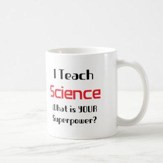 Teach science classic white coffee mug