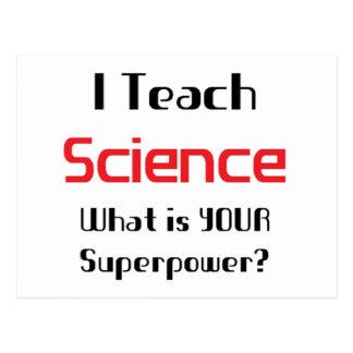 Teach science postcard