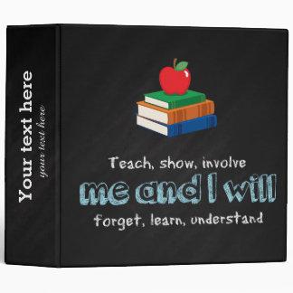 Teach, show & involve 3 ring binder