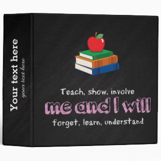 Teach, show & involve binder