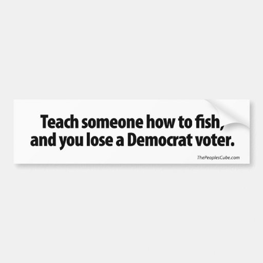 Teach someone how to fish bumper sticker