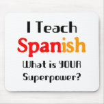 Teach spanish mouse pad