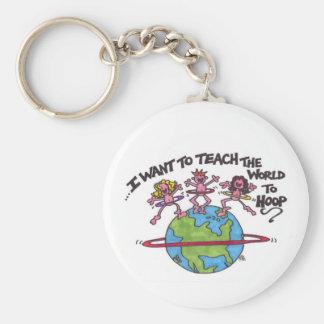 Teach the World Keychain