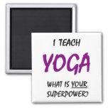 Teach yoga 2 inch square magnet