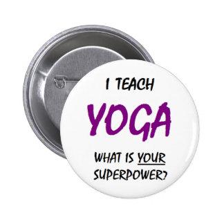 Teach yoga button