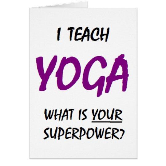 Teach yoga card