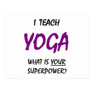 Teach yoga postcard