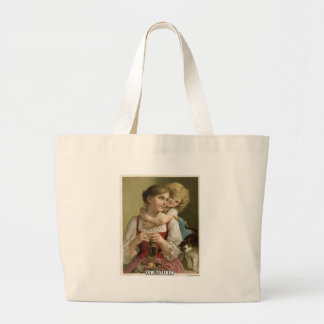 Teach your child large tote bag