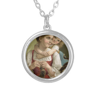Teach your child silver plated necklace