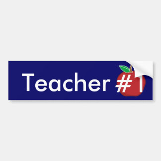 Teacher #1-Customize Bumper Sticker