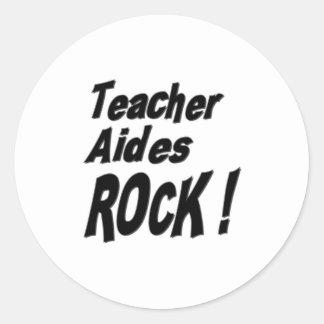 Teacher Aides Rock! Sticker