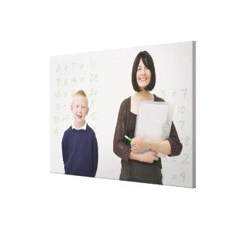 teacher and pupil canvas print