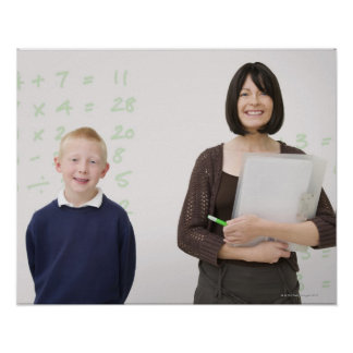 teacher and pupil poster