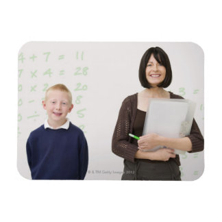 teacher and pupil rectangular photo magnet
