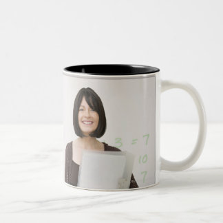 teacher and pupil Two-Tone coffee mug