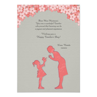 Teacher and Student Greeting Card