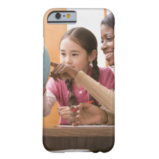Teacher and student looking at globe barely there iPhone 6 case