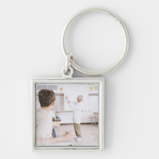 Teacher and Students in Lab 2 Keychain
