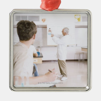 Teacher and Students in Lab 2 Metal Ornament