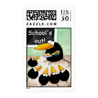Teacher and Students postage stamps