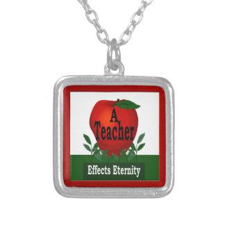 Teacher Apple Award Effects Eternity Necklace