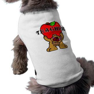 Teacher Apple Bear Doggie T-shirt