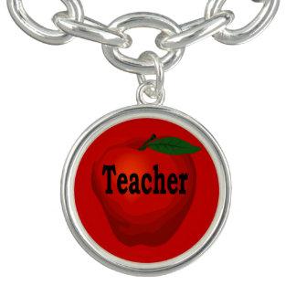 Teacher Apple Charm Bracelet