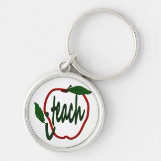 Teacher Apple I Teach Premium Keychain