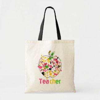 Teacher Apple Paint Splatter Bag