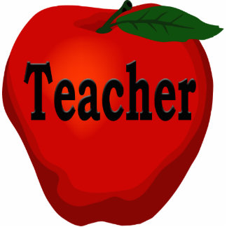 Teacher Apple Pin Statuette