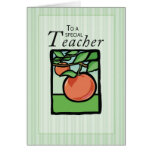 Teacher Apple Thank You Greeting Cards