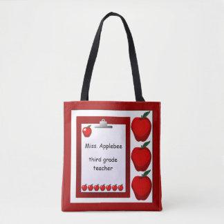 Teacher Apples CustomTote Bag