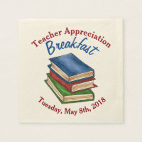 Teacher Appreciation Breakfast Retirement Party Napkin