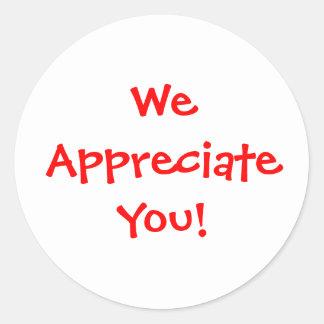 Teacher appreciation classic round sticker