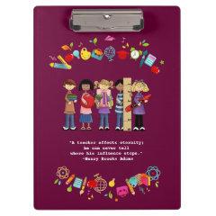 Teacher Appreciation Customizable Gift Clipboards