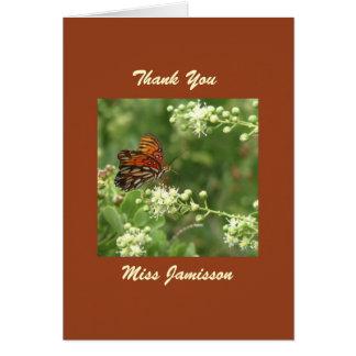 Teacher Appreciation Day Card Butterfly