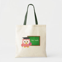 Teacher Appreciation Day, Cute Pink Owl Tote Bag