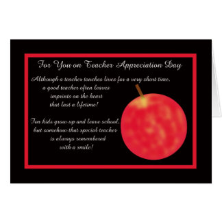 Teacher Appreciation Day Greeting Card