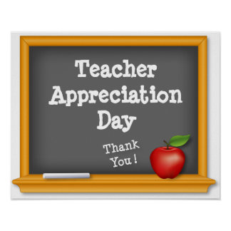 Teacher Appreciation Day Poster, Thank You!