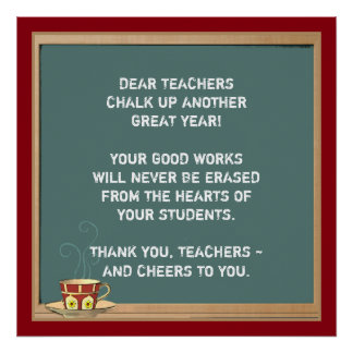 Thank Teacher Posters | Zazzle