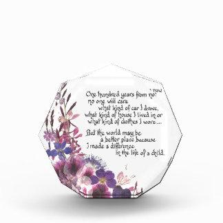 Teacher Appreciation Gift Acrylic Award