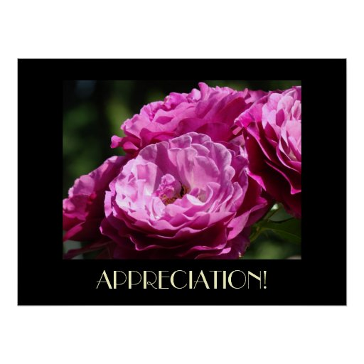 TEACHER APPRECIATION Gift Art Prints Rose Garden Poster