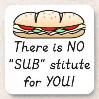 Teacher Appreciation Gift -Funny Sub Teacher Quote Beverage Coaster